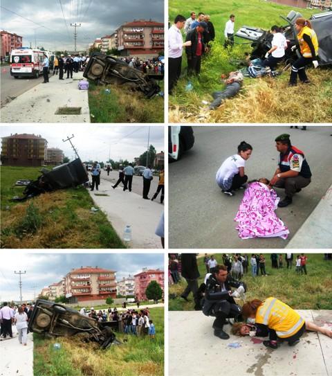Çubuk'ta trafik kazası 5 yaralı