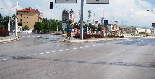 ankara cubuk yolu trafik lambalari