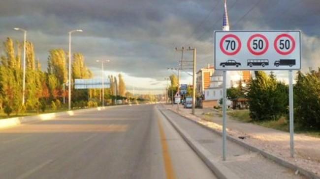 Çubuk Ankara Karayolu Hız Limiti Düzenlemesi