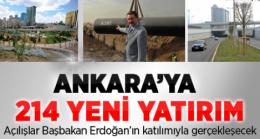 Ankara da 214 Tesisin Açılıyor