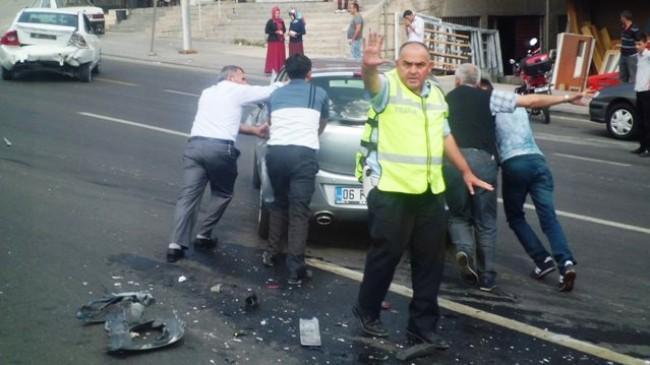 Pursaklar da Trafik Kazası