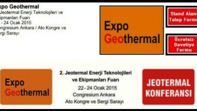 Expo Geothermal 2. Jeotermal Enerji Teknolojileri ve Ekipmanları Fuarı