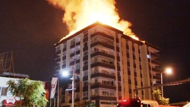 Ankara da Yangın Paniğe Sebep Oldu