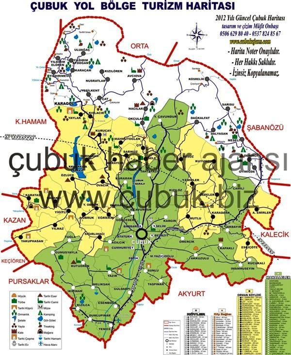 Ankara Çubuk Haritası Hazır